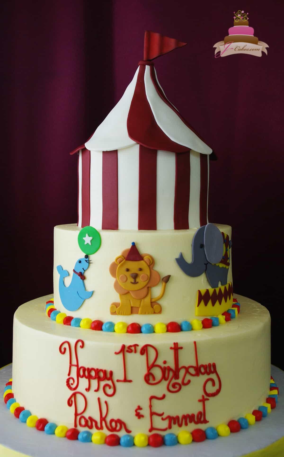 (476) Circus Theme Cake