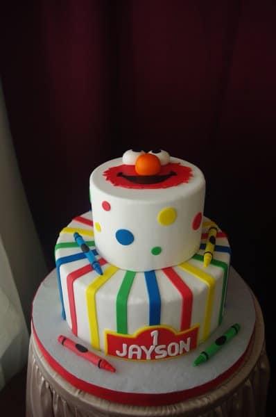 (472) Multi Colored Elmo Sesame Street Cake