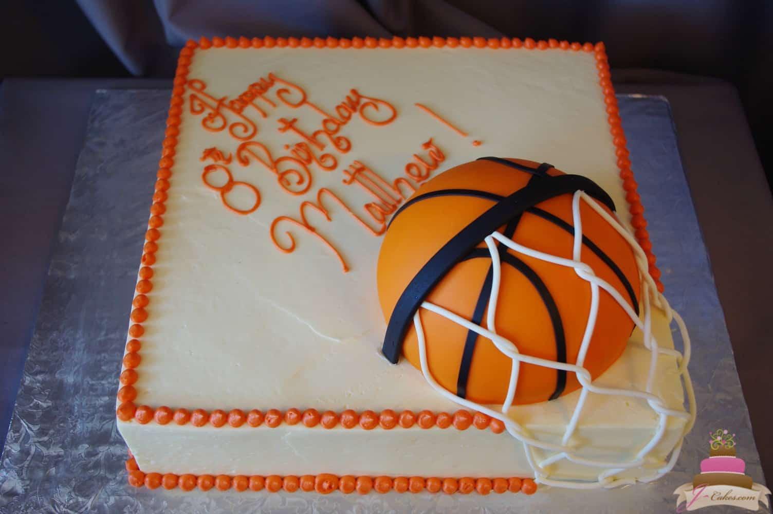 (491) Basketball Theme Sheet Cake