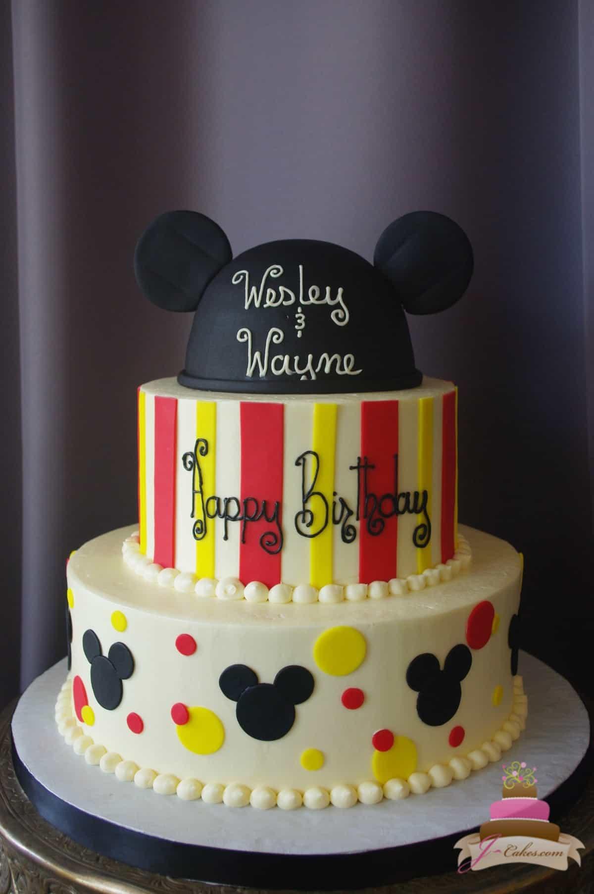 (505) Mickey Themed Cake