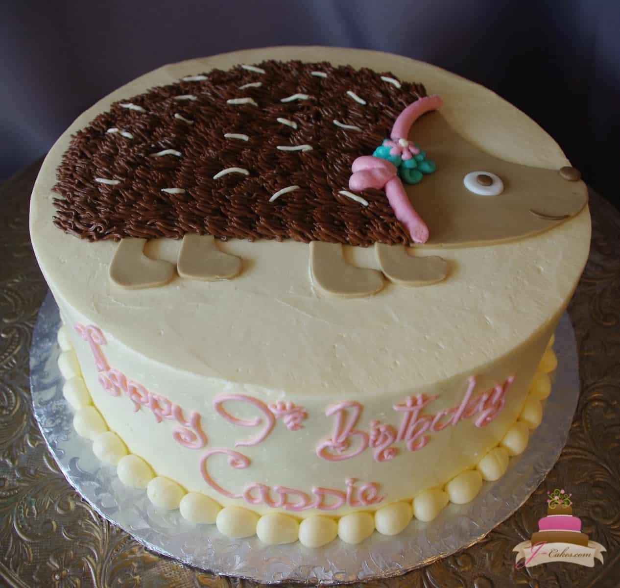 (513) Hedgehog Cake