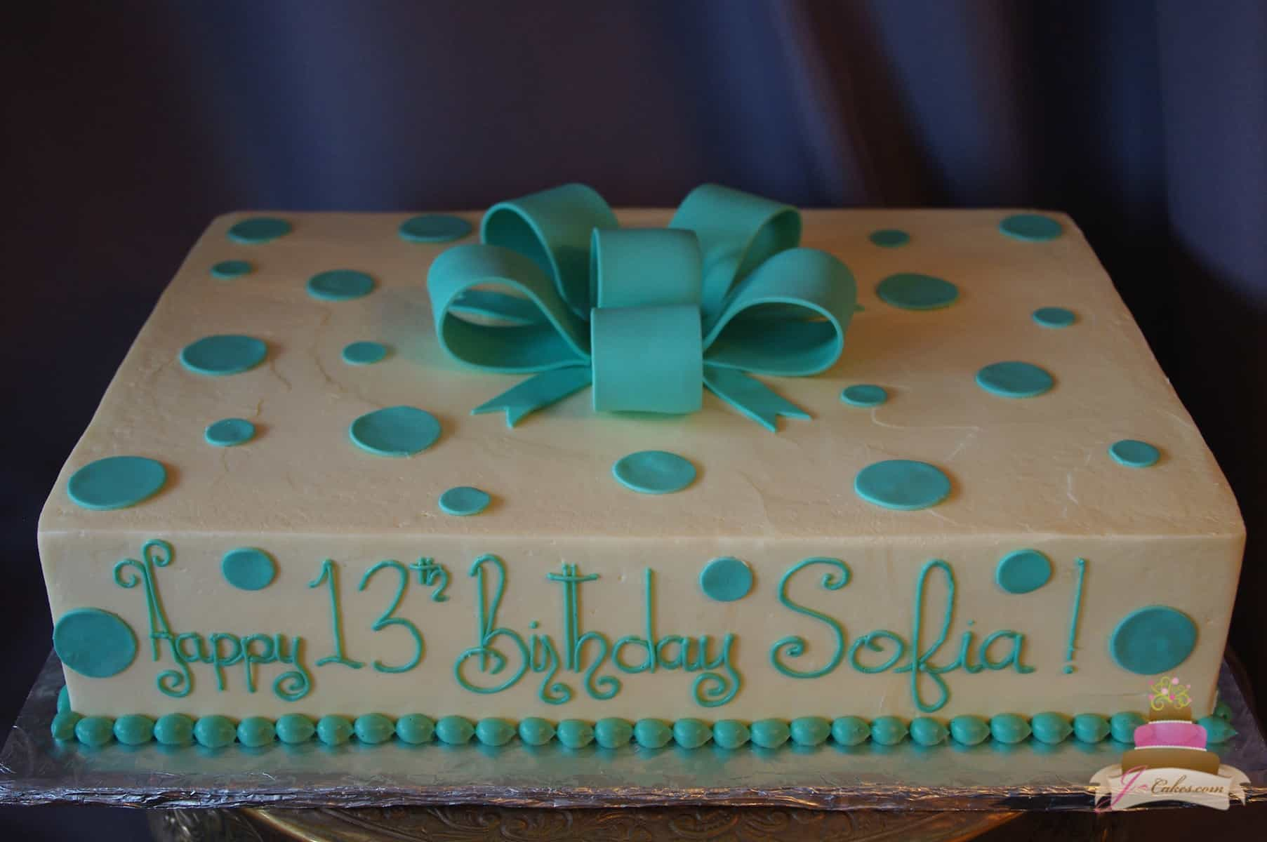 (514) Polka Dot Present Cake