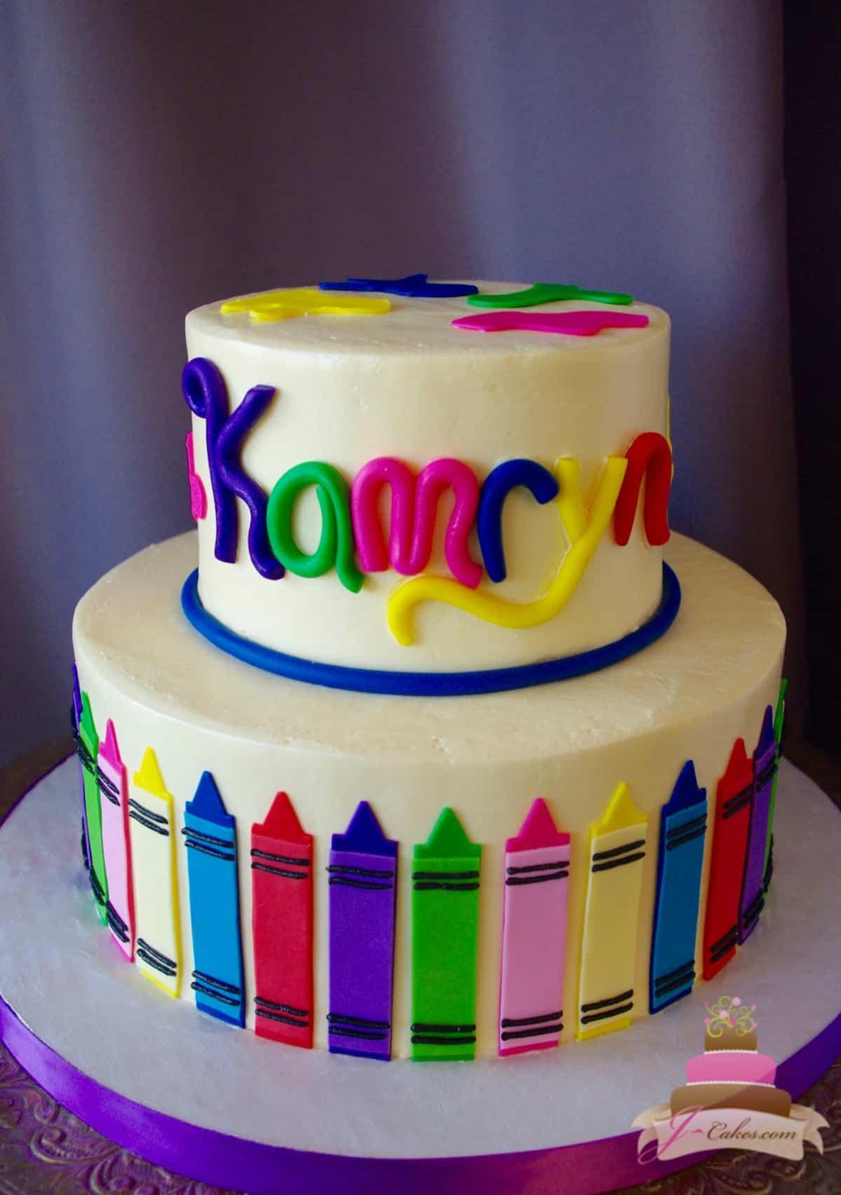 (521) Art Supplies Themed Cake
