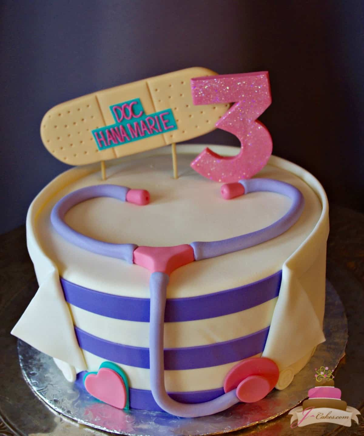 (523) Doc McStuffins Theme Cake