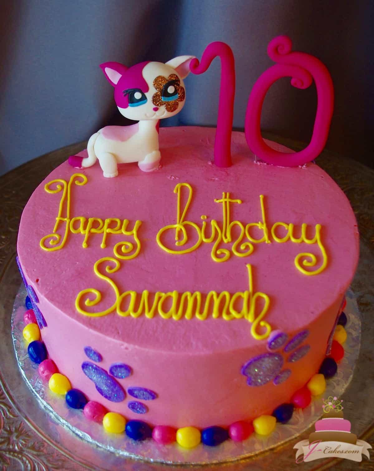 (525) Littlest Pet Shop Cake