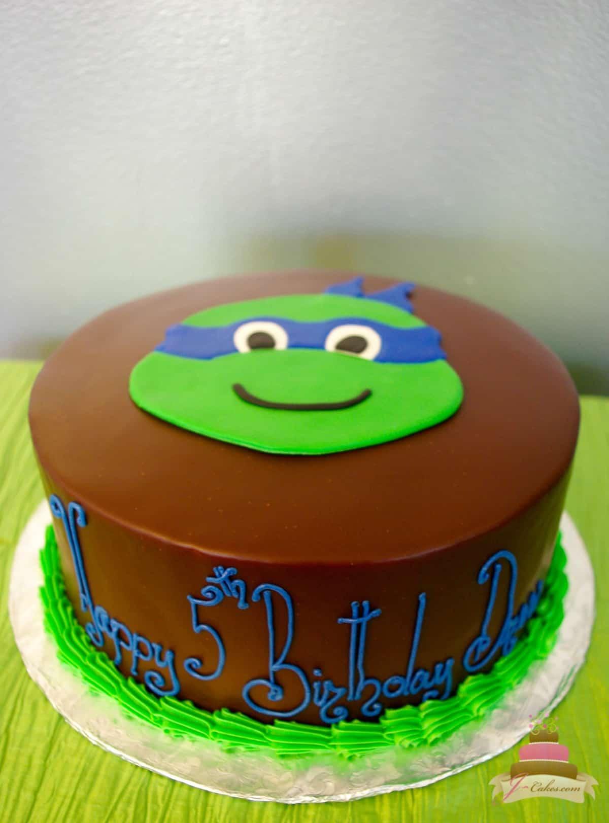 (480) Ninja Turtle Cake