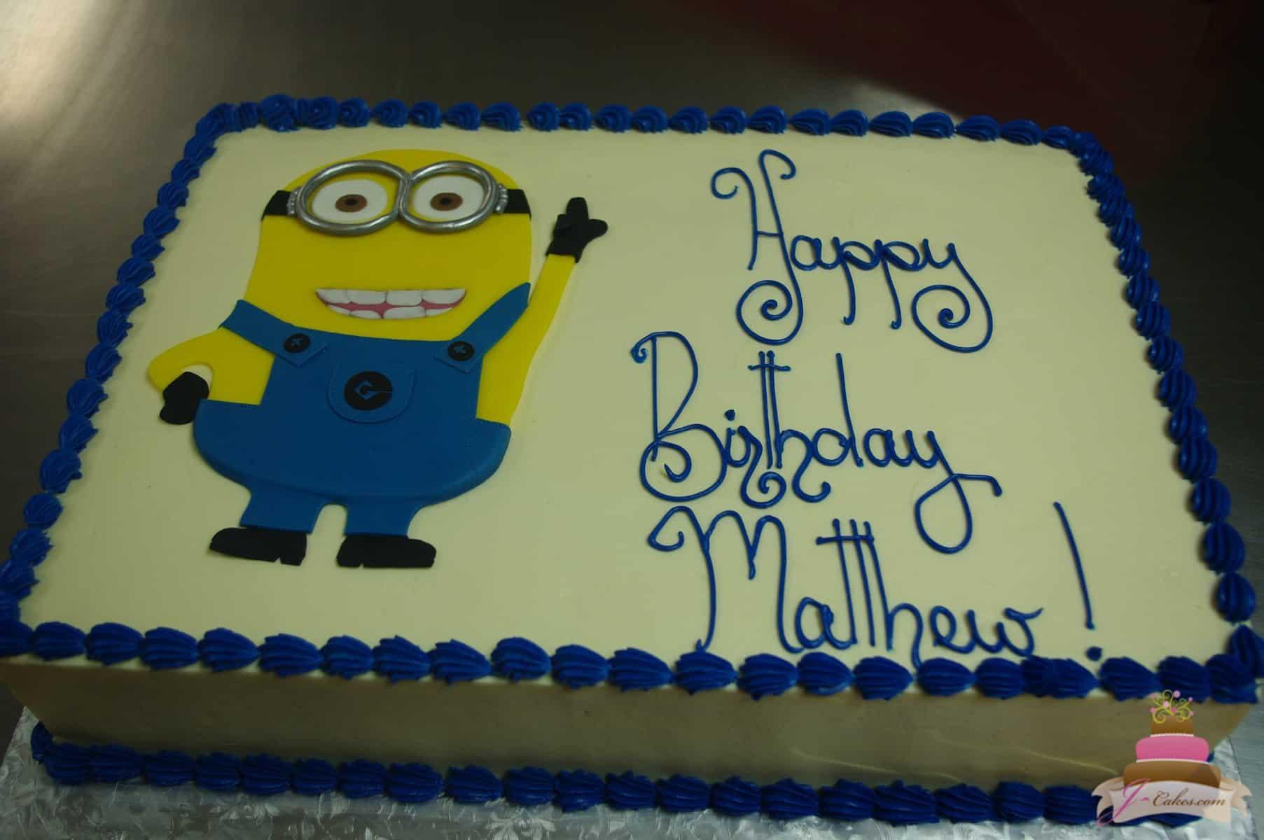 (486) Minion Sheet Cake