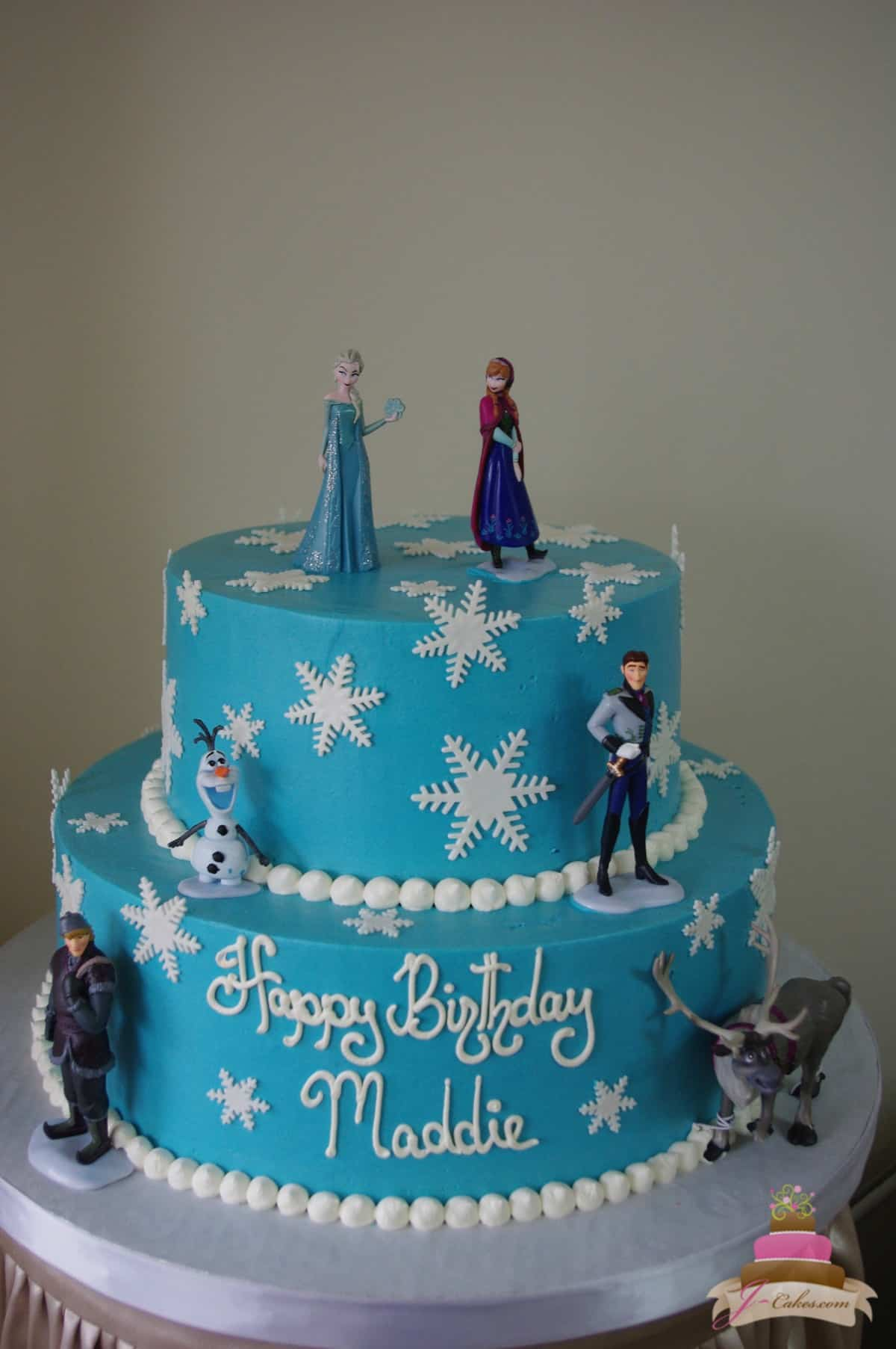 (487) Frozen Snowflake Cake
