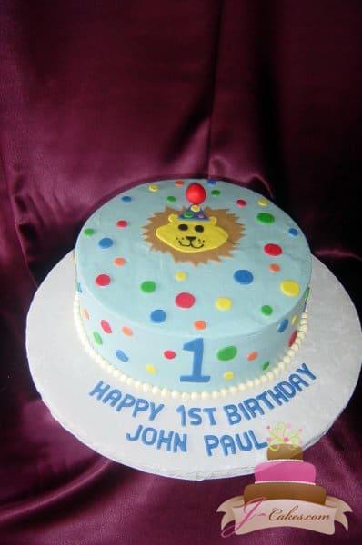 (402) Baby Lion 1st Birthday Cake
