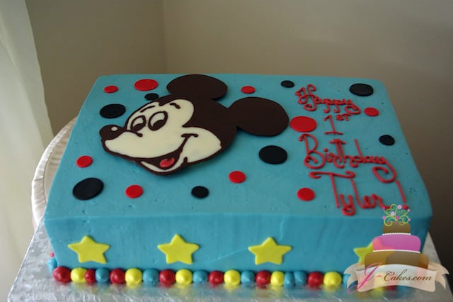 (422) Mickey Mouse Birthday Sheet Cake