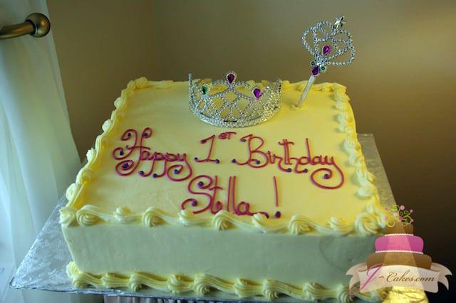 (426) Princess Birthday Sheet Cake