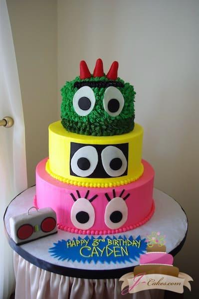 (435) Yo Gabba Gabba Birthday Cake