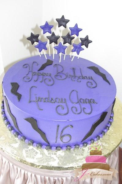 (437) Lightning Bolt Birthday Cake