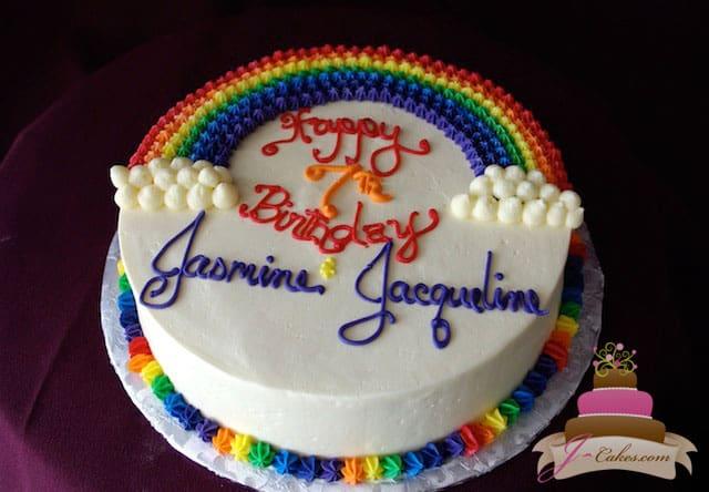 (445) Rainbow Birthday Cake