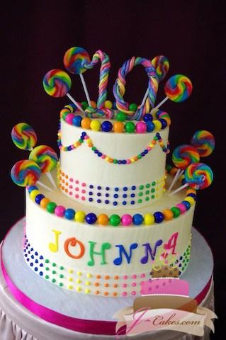 (452) Candy Theme Birthday Cake