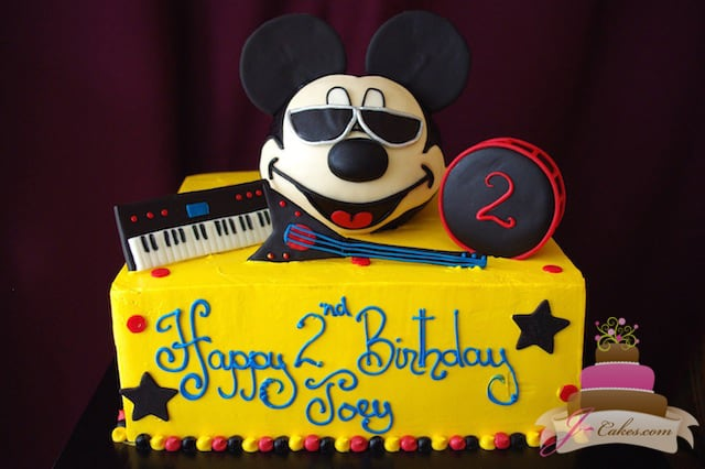 (462) Mickey Mouse Rock Star Birthday Cake