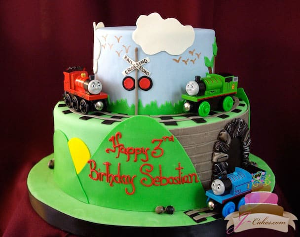 (468) Thomas the Tank Engine Birthday Cake
