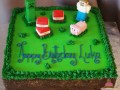 (517) Minecraft Theme Sheet Cake