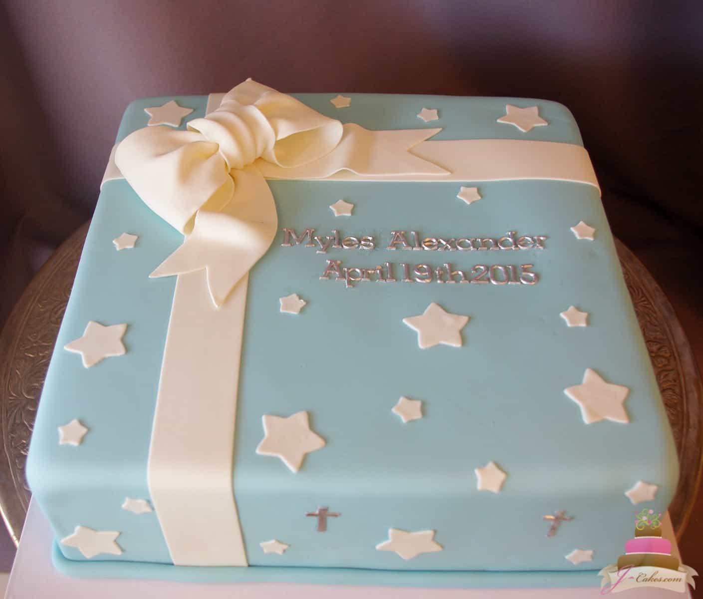 (2015) Present Box Christening Cake