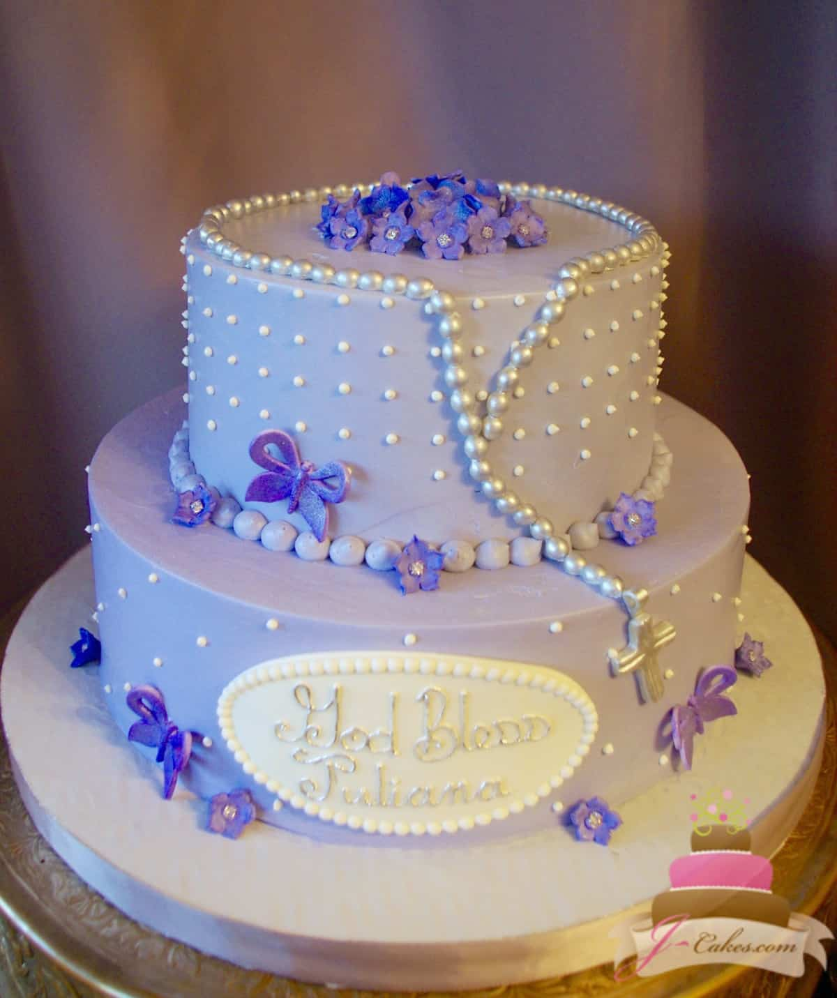 (2017) Purple Butterfly Communion Cake