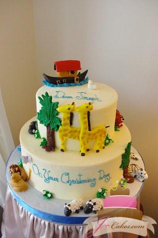 (2012) Noah's Ark Christening Cake