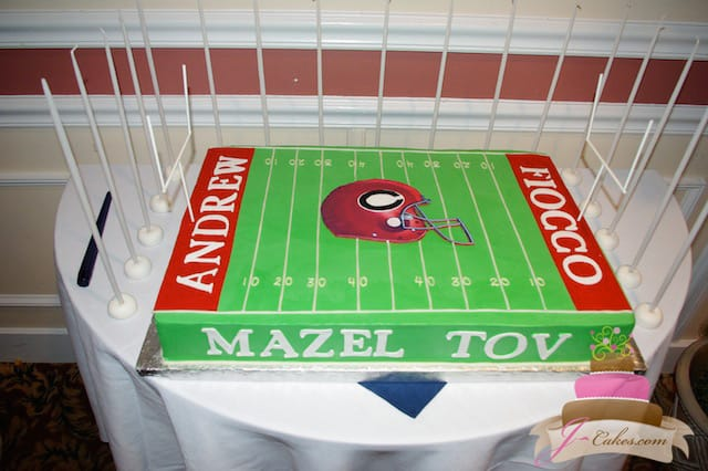 (2008) Football Theme Bar Mitzvah Cake