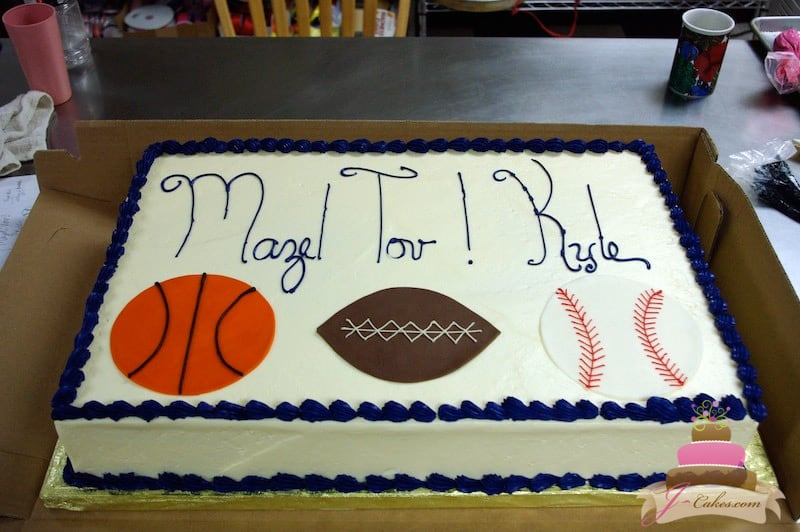 (2010) Sports Theme Bar Mitzvah Cake