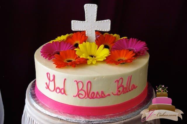 (2005) Gerbera Daisy Communion Cake