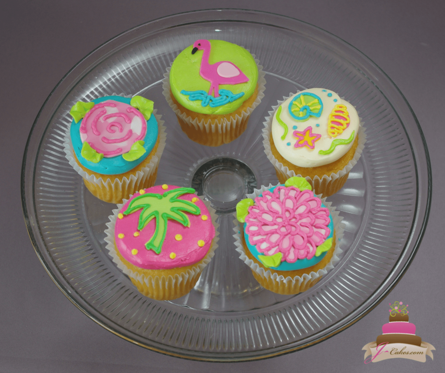 (655) Lily Pulitzer Cupcakes