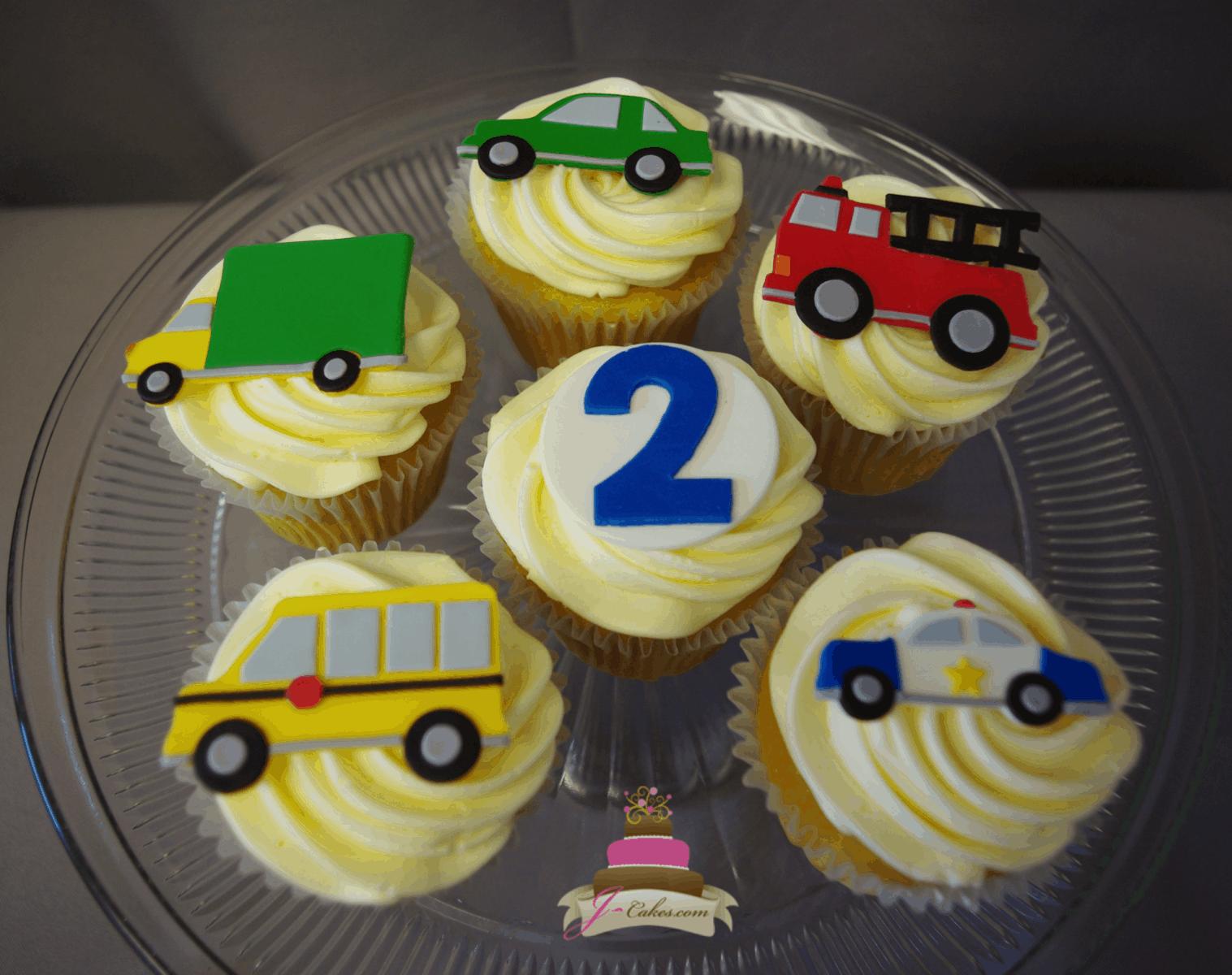 (657) Automobile Cupcakes