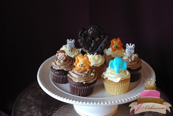 (604) Sugar Jungle Animal Cupcakes