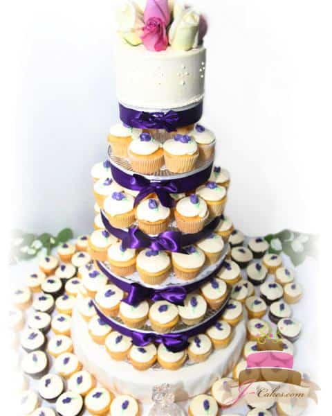 (602) Buttercream Rosebud Cupcake Tower