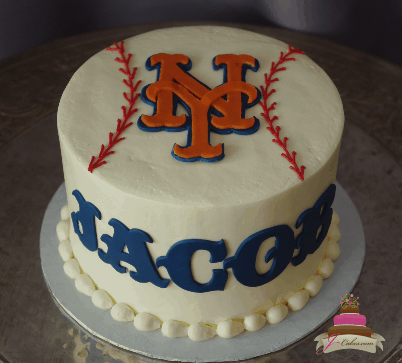 (735) Simple Baseball Groom's Cake