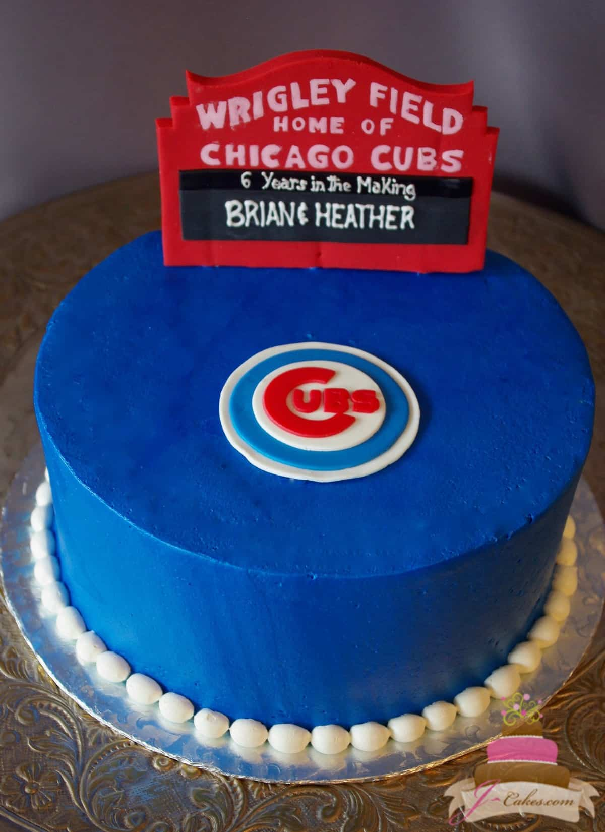 (729) Chicago Cubs Groom's Cake