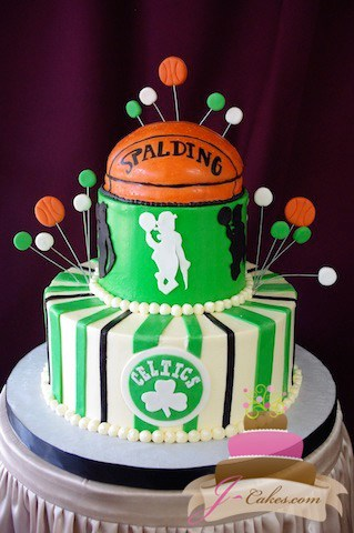(717) Boston Celtics Groom's Cake
