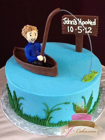 (721) Fishing-Theme Groom's Cake