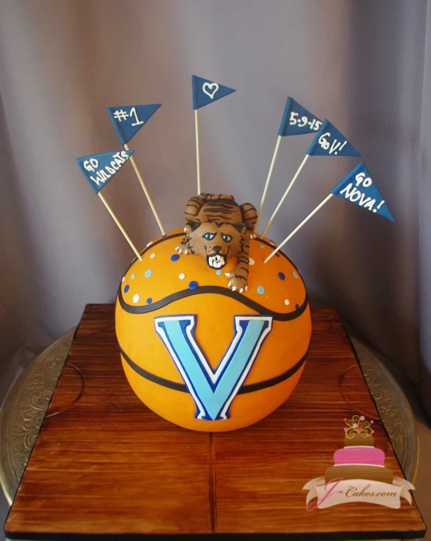 (727) Villanova Wildcats Basketball Groom's Cake
