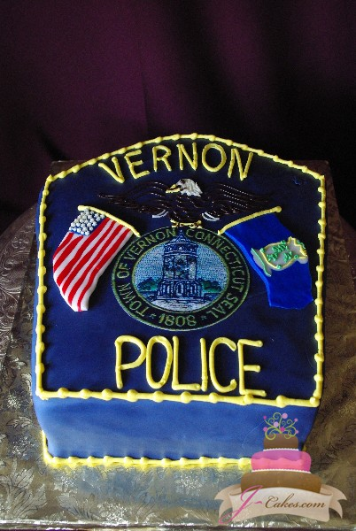 (702) Police Badge Groom's Cake