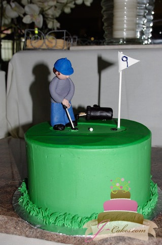 (705) Golf Theme Groom's Cake