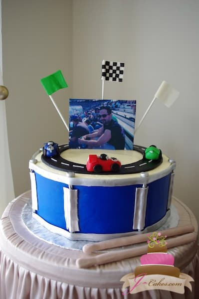 (707) Race Track Groom's Cake