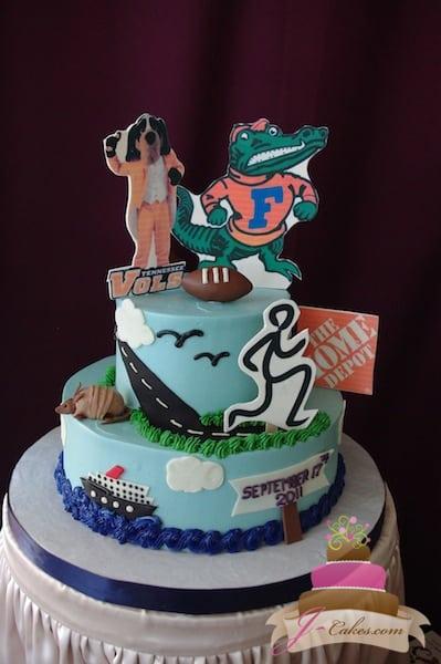 (708) Hobby-Themed Groom's Cake
