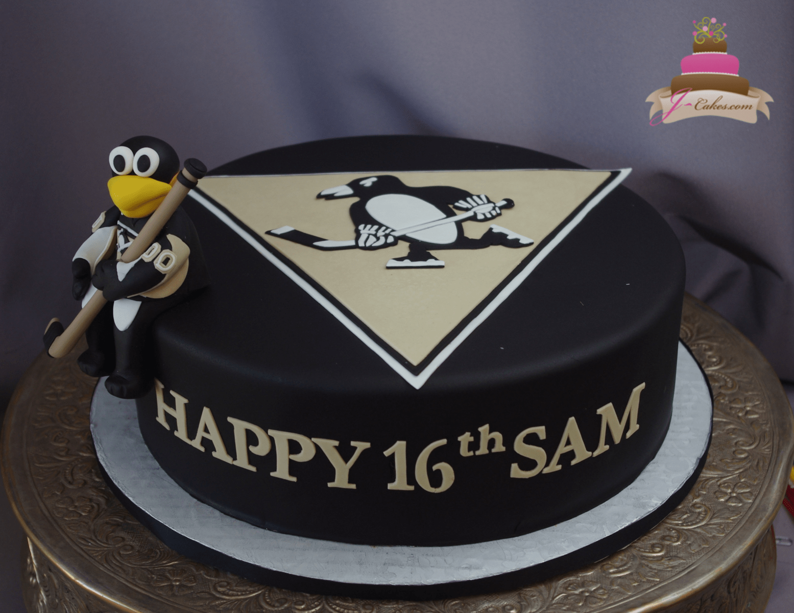 (931) Hockey Theme 16th Birthday Cake