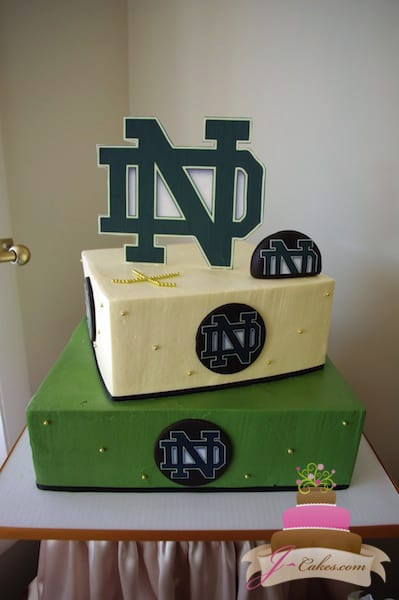 (910) Notre Dame Hockey 16th Birthday Cake