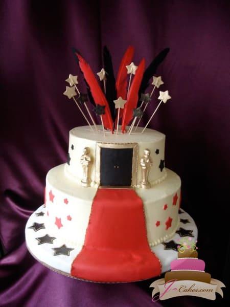 (922) Oscars Theme Sweet 16 Cake