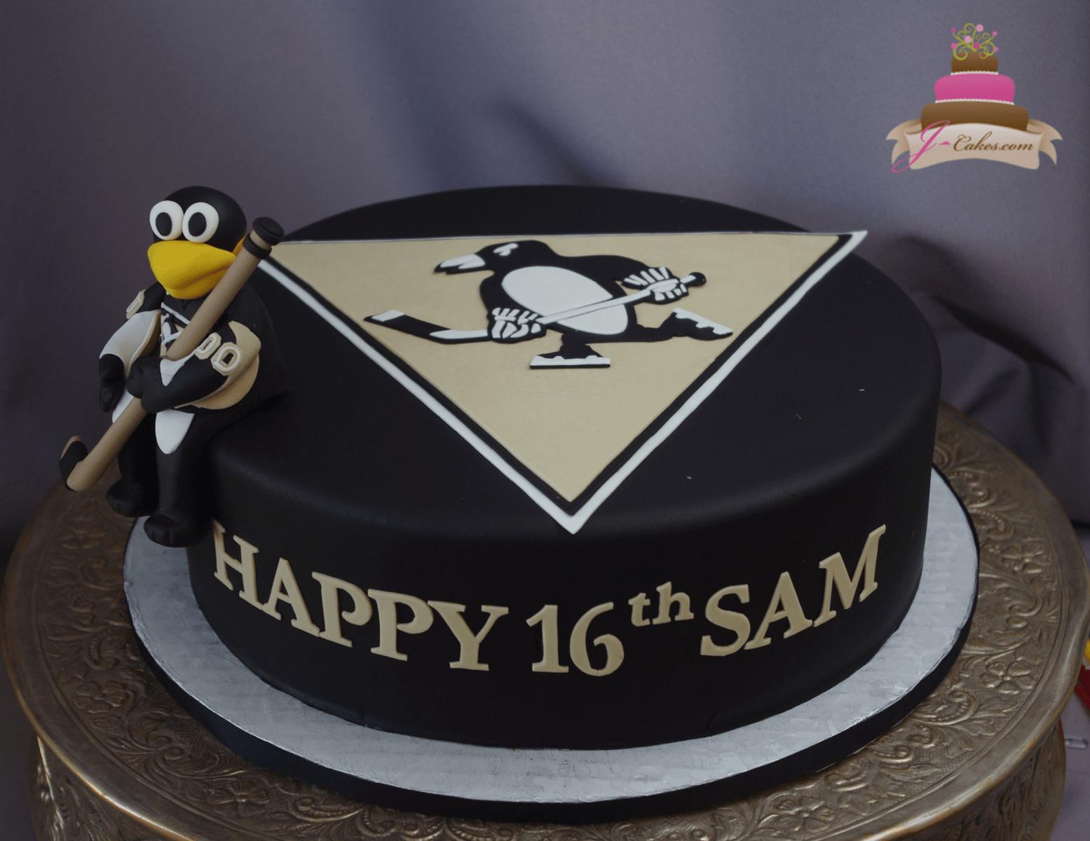 (931) Hockey Theme 16th Birthday Cake