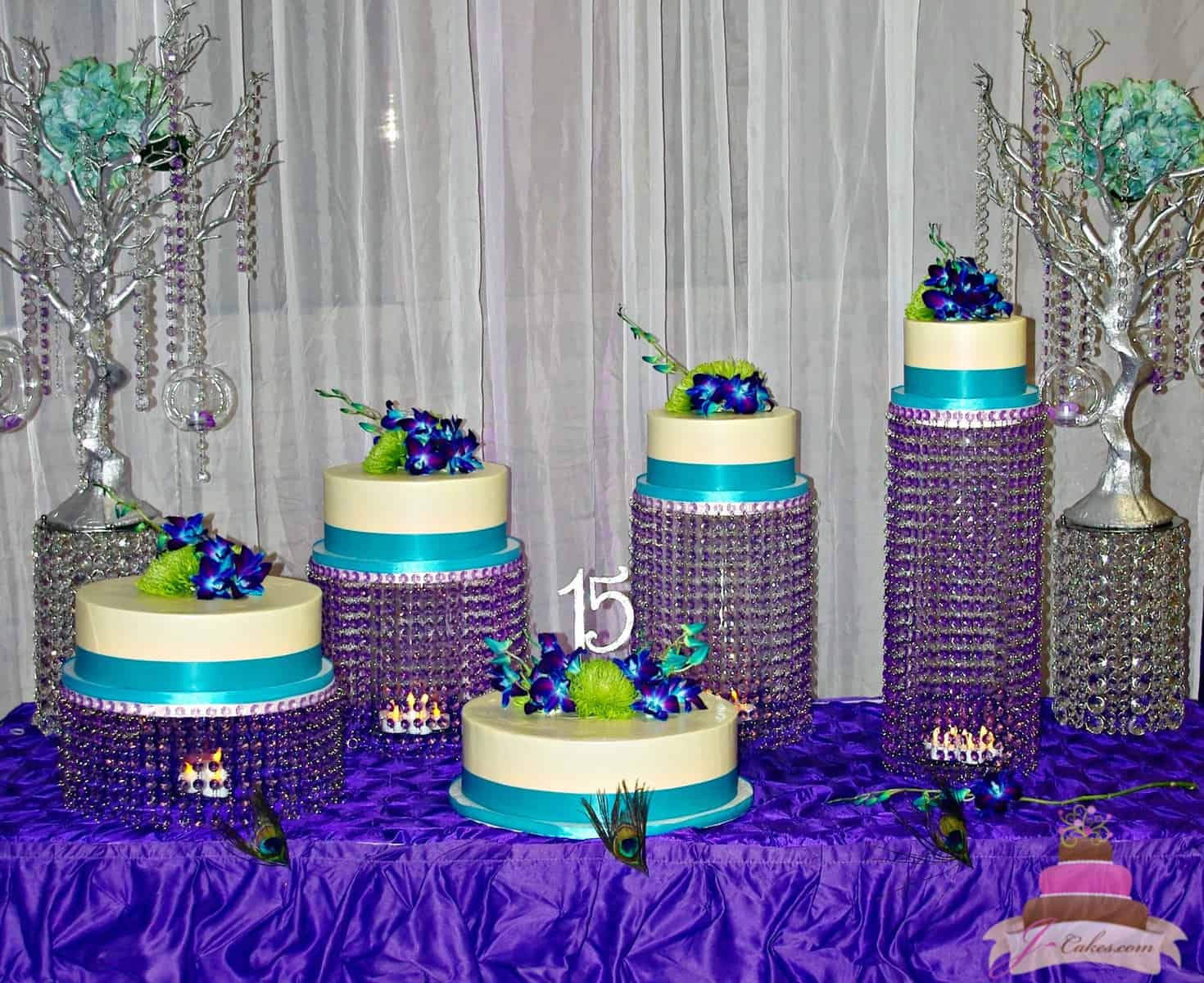 (927) Floating Tier Quinceañera Cake