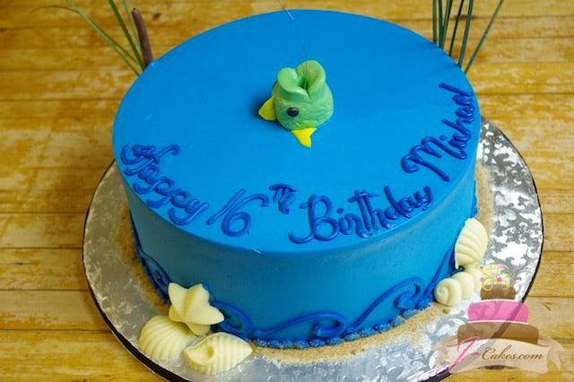 (920) Fishing Theme 16th Birthday Cake