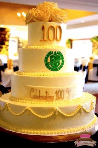 (826) 100th Anniversary Cake