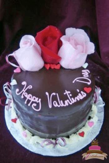 (838) Valentine's Cake for 2