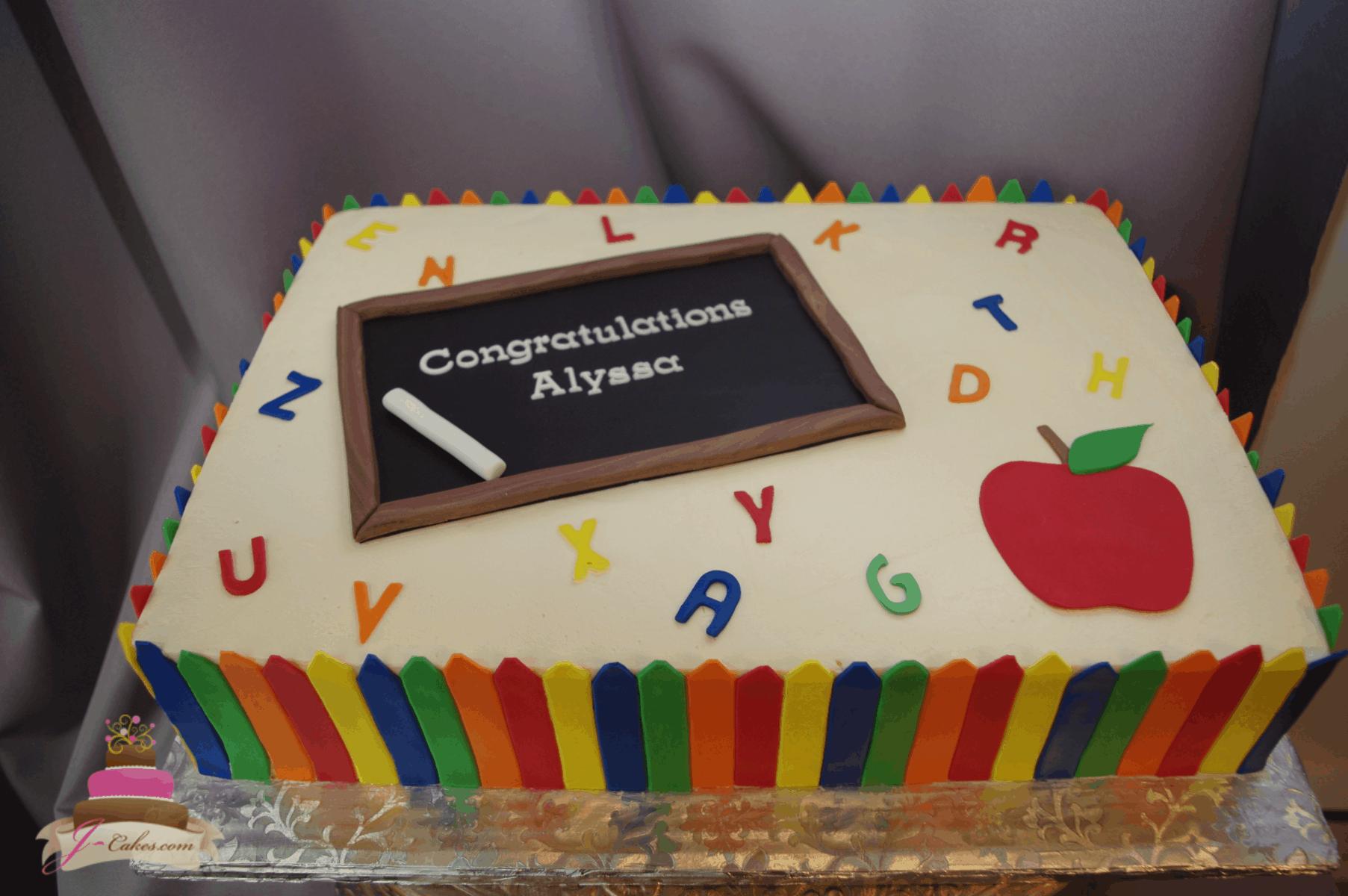 (846) Teaching Themed Cake